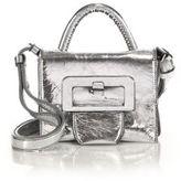 Maison Margiela Mini Top-Handle Metallic Leather Shoulder Bag