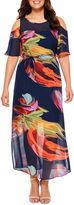 Robbie Bee Short Sleeve Maxi Dress