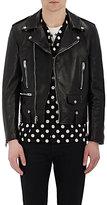 Saint Laurent Men's Leather Moto Jacket-BLACK