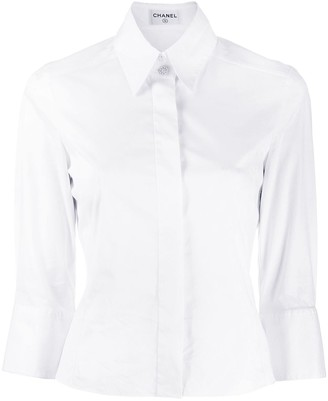 Chanel Pre-Owned 1990's concealed placket slim shirt