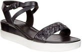 Ecco Women's Touch Braided Plateau Ankle Strap Sandal