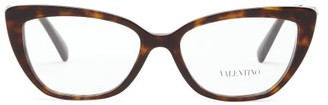Valentino Cat-eye Tortoiseshell Acetate Glasses - Womens - Tortoiseshell