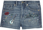 Juicy Couture Rockin Scotty denim shorts 4-14 years