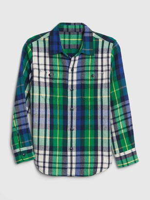 Gap Kids Plaid Overshirt