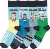 Men Character Socks Four Pack