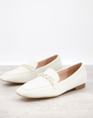 Raid Artie loafers with colour drenched trim in white