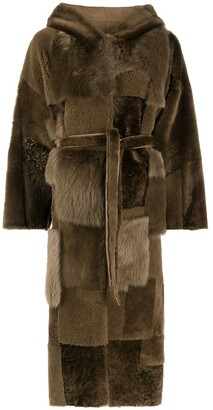Liska Reversible Patchwork Design Coat