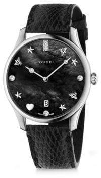 Gucci G-Timeless Snake Link Stainless Steel Bracelet Watch