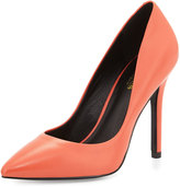 Charles by Charles David Pact Leather Pointed-Toe Pump, Coral