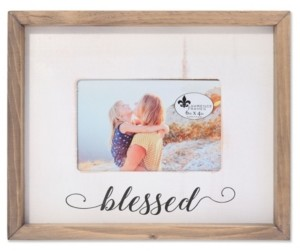"""Lawrence Frames Farmhouse Wood Frame - Blessed - 4"""" x 6"""""""