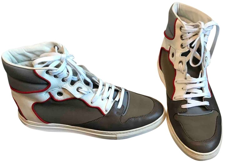 Balenciaga Khaki Leather Trainers