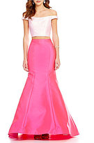 Ellie Wilde Off-the-Shoulder Two-Piece Mermaid Dress