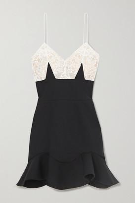 Alexander McQueen Wool-blend And Lace Mini Dress