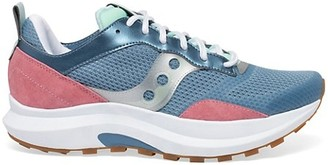Saucony Abstract Jazz Mix Media Chunky Sneakers