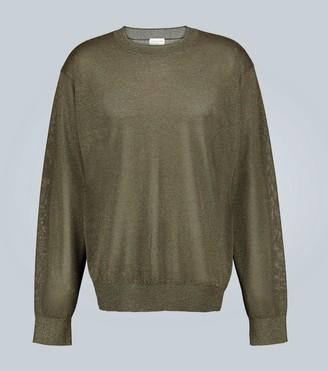 Dries Van Noten Lightweight metallic sweater