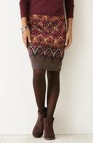 J. Jill Printed Crinkle-Knit Skirt
