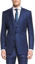 HUGO BOSS Hevans Three-Piece Wool Suit, Navy
