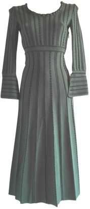 Fendi Green Wool Dresses