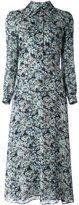 Saint Laurent floral midi shirt dress