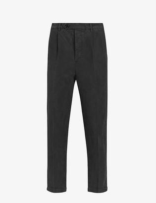 AllSaints Vaga slim-fit tapered linen-blend trousers