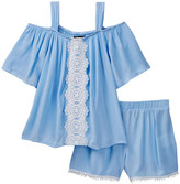 My Michelle mymichelle Cold Shoulder Top & Short 2-Piece Set (Big Girls)