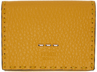 Fendi Yellow Selleria Trifold Wallet