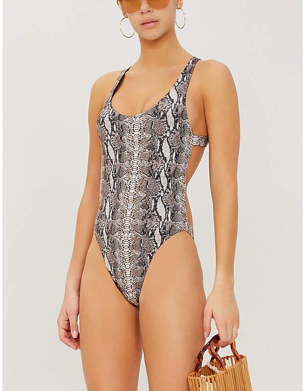 Frankie's Bikinis FRANKIES BIKINIS Venom scoop-neck swimsuit