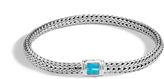 John Hardy Women's Classic Chain 5MM Bracelet in Sterling Silver with Natural Arizona Turquoise