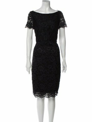 Diane von Furstenberg Lace Pattern Knee-Length Dress w/ Tags Black