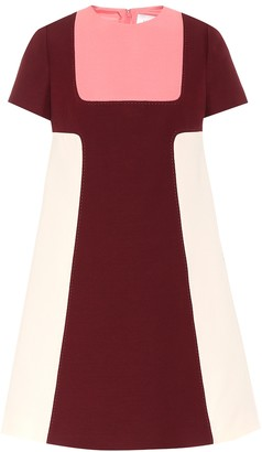 Valentino silk and wool crepe minidress