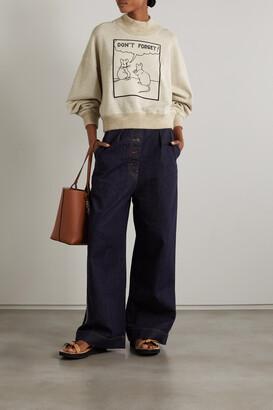 Loewe + Joe Brainard Appliqued Jersey Turtleneck Sweatshirt