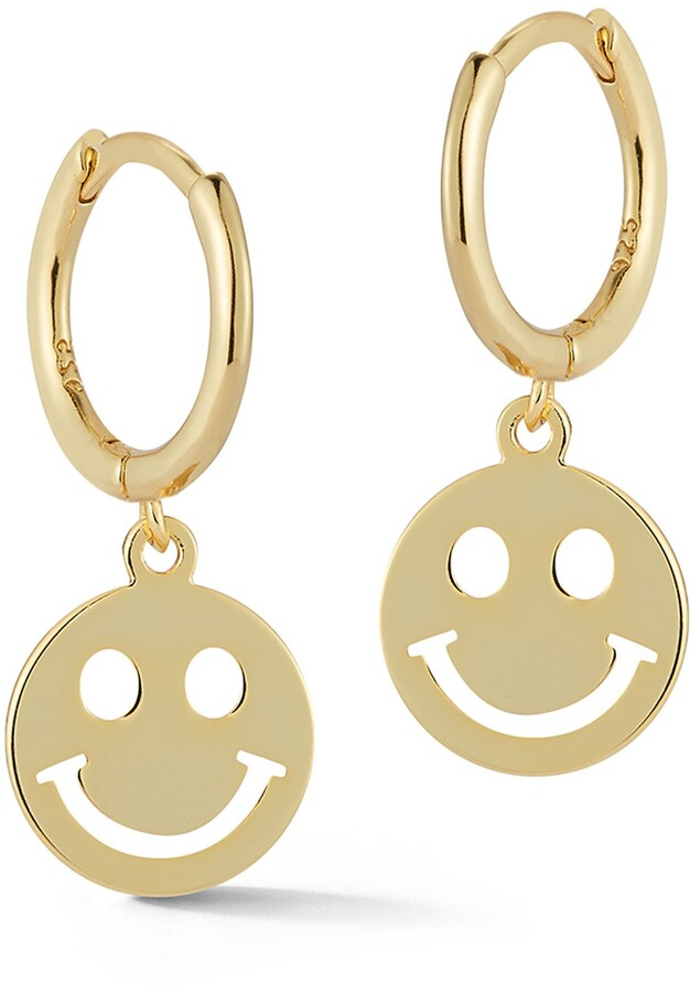 SMILEY FACE Dangle Earrings with Sunglasses Fun Jewelry Pierced