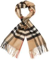 """Burberry Women's Classic Check Cashmere Long Scarf, 66"""" x 12"""""""