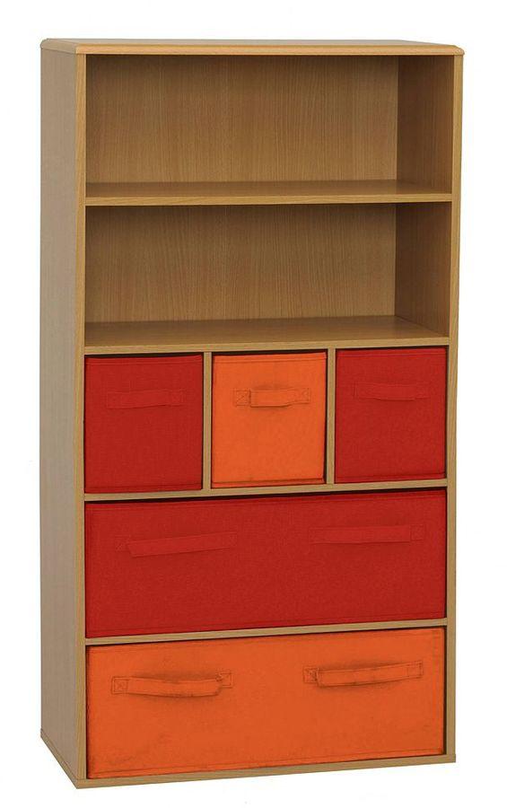 Crawford Kids 5-Bin Storage Bookcase