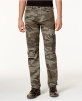 True Religion Men's Geno Slim-Fit Camo-Print Moto Jeans