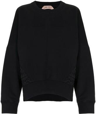 No.21 Side-Slit Panelled Sweatshirt