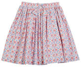 Joules Coral-Print Cotton Skirt, Size 3-10