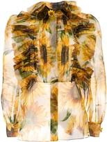 Dolce & Gabbana sheer sunflower print blouse