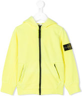Stone Island Junior - logo patch hooded jacket - kids - Cotton - 3 yrs