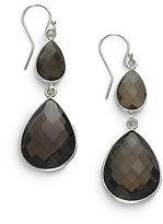 Nunu Smoky Quartz & Sterling Silver Teardrop Earrings