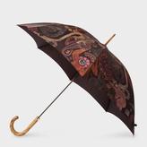 Paul Smith 'Monkey' Print Walker Umbrella With Wooden Handle