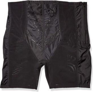 Rago Shapewear Women's Plus-Size Extra Firm Zippered High Waist Long Leg Shaper (X)