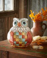 Mackenzie Childs MacKenzie-Childs Owl Cookie Jar