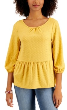 Style&Co. Style & Co Clip Dot Top, Created for Macy's