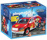 Playmobil 5364 Fire Chief's Car with Lights and Sounds