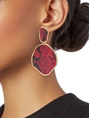 Ava & Aiden Animal Goldtone & Faux Leather Drop Earrings