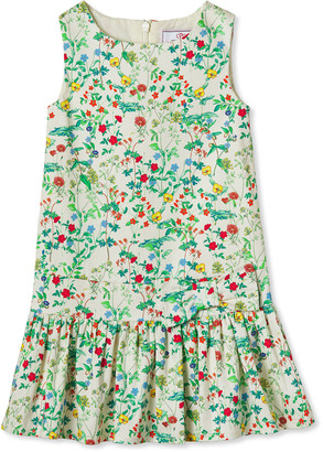 Classic Prep Childrenswear Girl's Cameron Floral Print Drop-Waist Sleeveless Dress, Size 2-14
