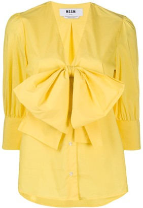 MSGM Bow Front Blouse