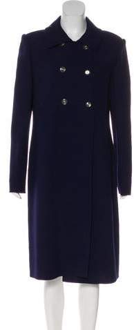 Bill Blass Notch-Lapel Long Coat