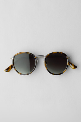 Weekday Explore Mixed Rounded Sunglasses - Beige